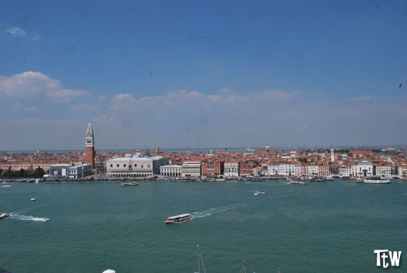 Vista di Venezia dall'alto - campanile di San Giorgio