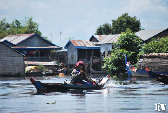 Cambogia, villaggi galleggianti