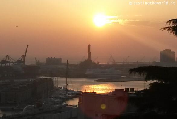 Tramonto a Genova