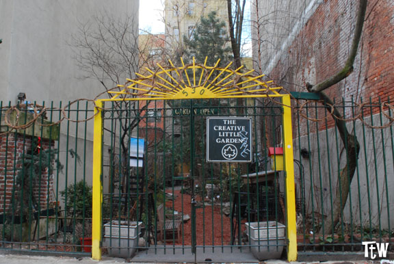 New York, Alphabet City - community gardens