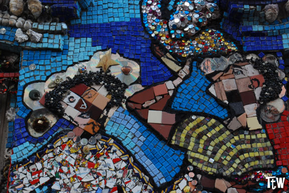 New York, Brooklyn - casa dei mosaici di Susan Gardner