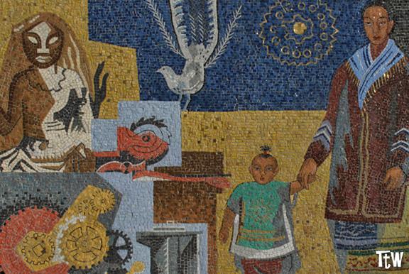 Alessandria: il mosaico di Gino Severeni (Palazzo della Posta)