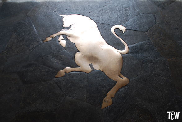 Toro dorato in piazza San Carlo a Torino