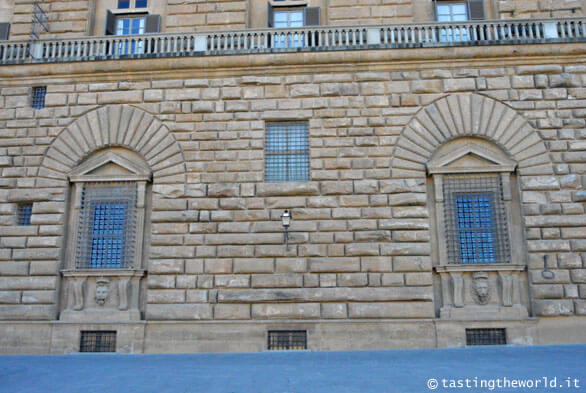 La facciata di Palazzo Pitti a Firenze