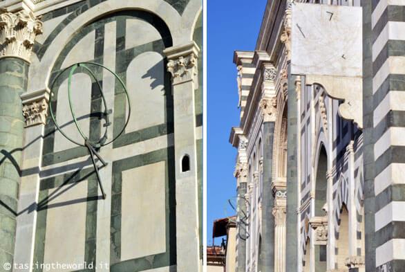 Sfera armillare e meridiana nella facciata di Santa Maria Novella, Firenze