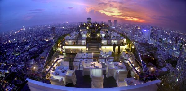 Moon bar at Vertigo, Bangkok