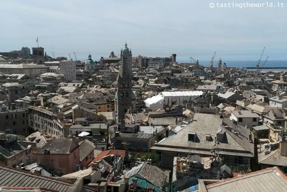 Vista di Genova dalla terrazza di Palazzo Rosso
