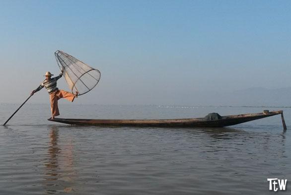 Pescatore del lago Inle, Myanmar