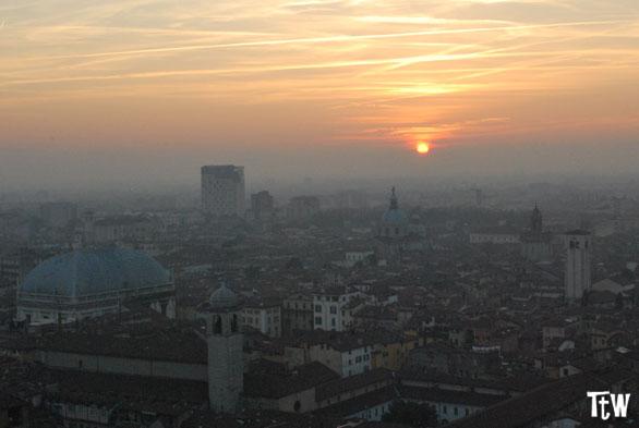 Vista di Brescia dal Castello