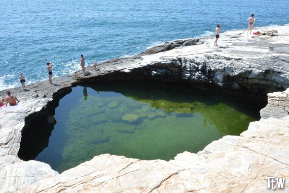 Thassos, la piscina naturale di Giola