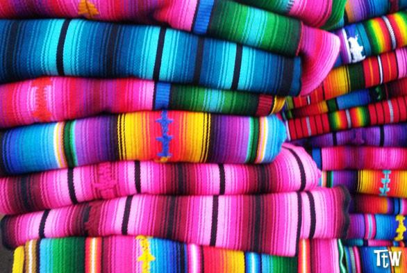 Le stoffe colorate del Guatemala