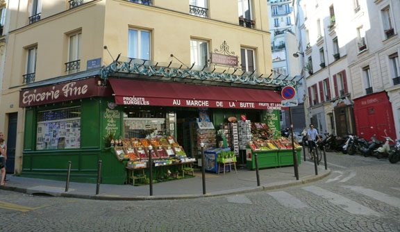 Il fruttivendolo di Amèlie, Montmartre (Parigi)