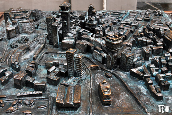 Modellino del centro storico di Savona