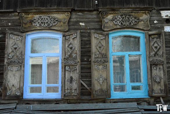 Case in legno a Ulan-Udė