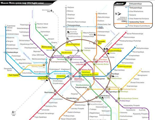 Metropolitana di Mosca: mappa con itinerario stazioni più belle