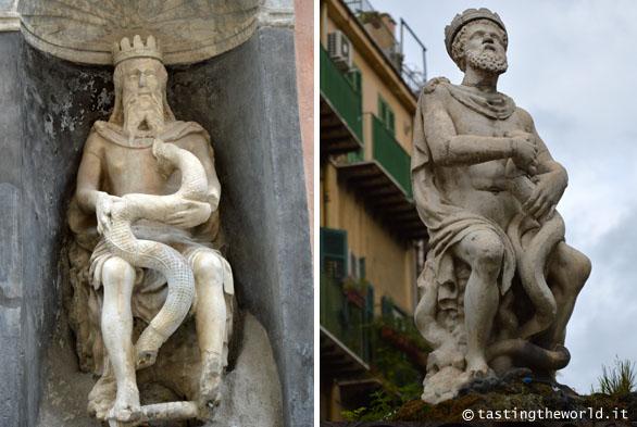 Statue del Genio di Palermo