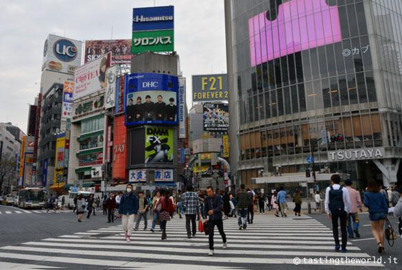 Incrocio di Shibuia, Tokyo (Giappone)