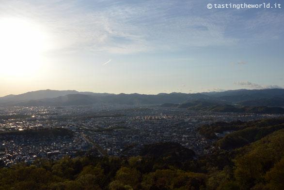 Daimonji Yama: Kyoto dall'alto
