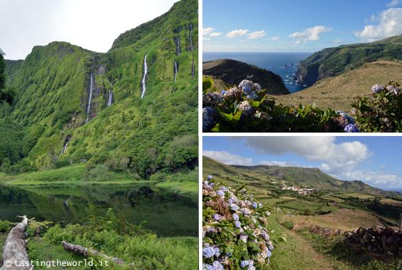 Flores, Azzore - tragitto tra Fajã Grande e Lajedo