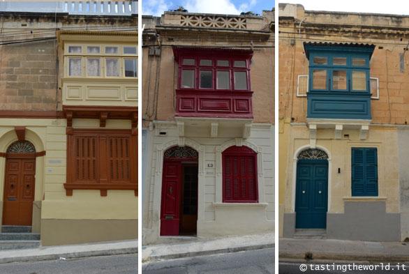 Facciate delle case a Sliema (La Valletta, Malta)