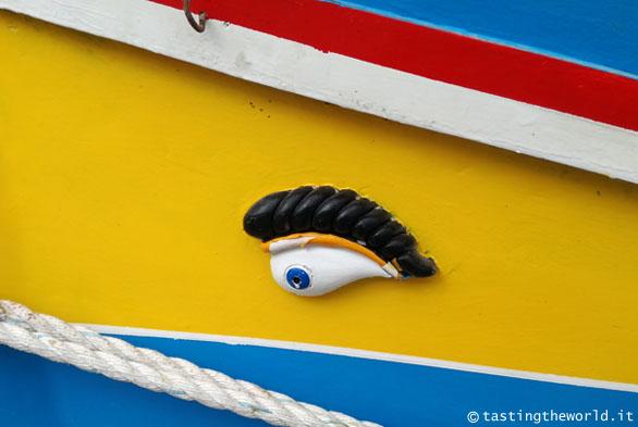 L'occhio di Osiride in un luzzo maltese