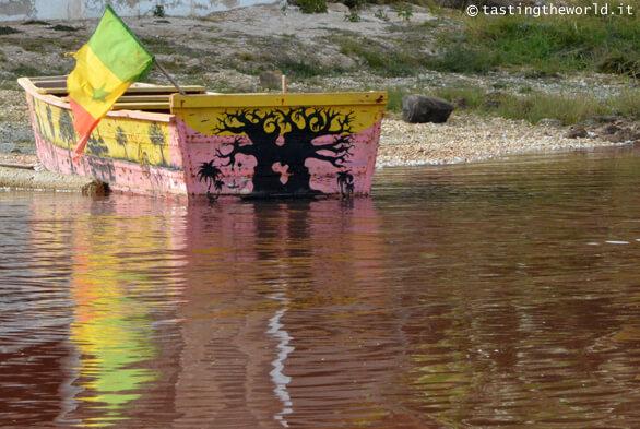 Lago Retba (lago rosa), Senegal
