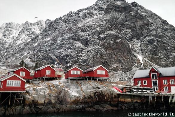 Il villaggio di Å i Lofoten in inverno