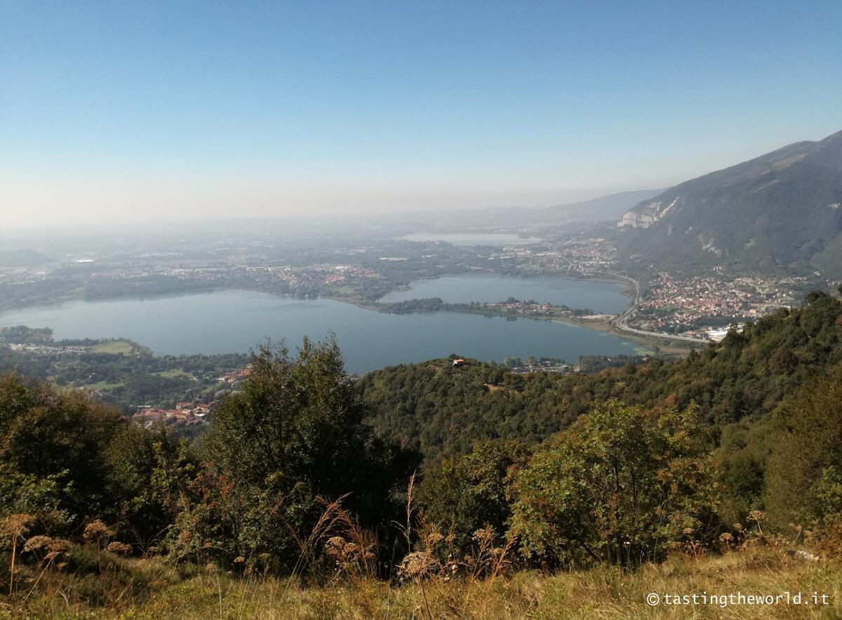 Il lago di Annone visto dal Monte Barro (Lecco)