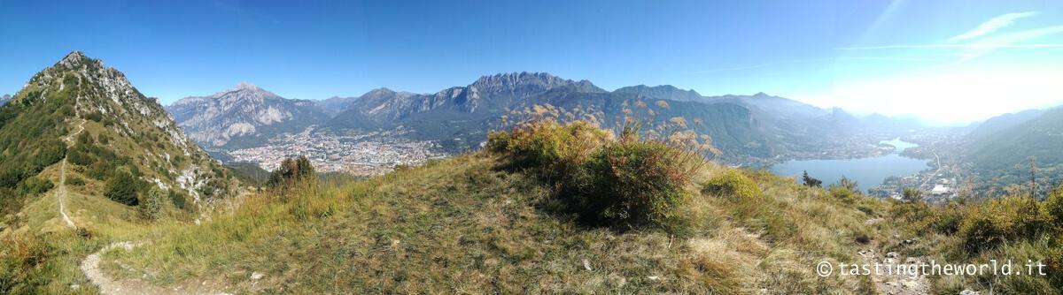 Foto panoramica dal Monte Barro