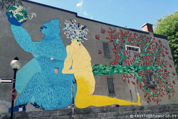 Un murales nel quartiere Plateau Mont-Royal, Montréal