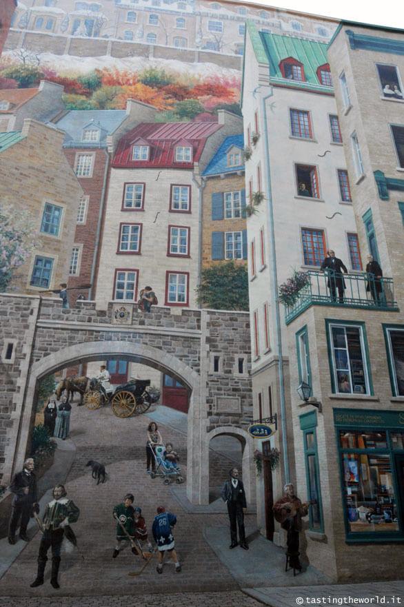 Fresque des Québécois, Québec City