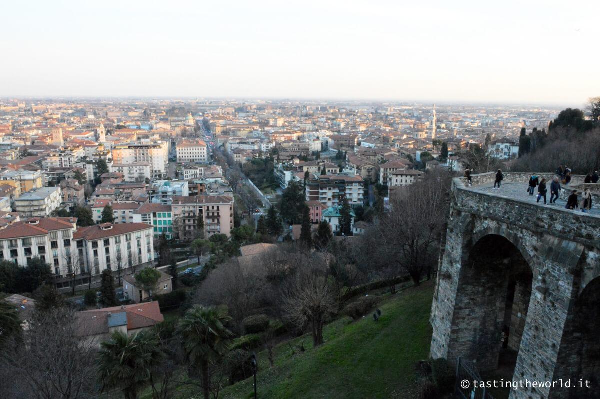 Bergamo bassa vista dall'alto