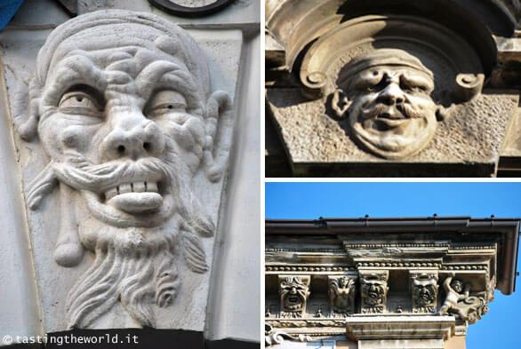 Dettagli dei palazzi di Brescia