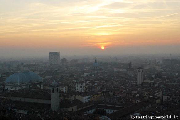 Il tramonto dal Castello di Brescia
