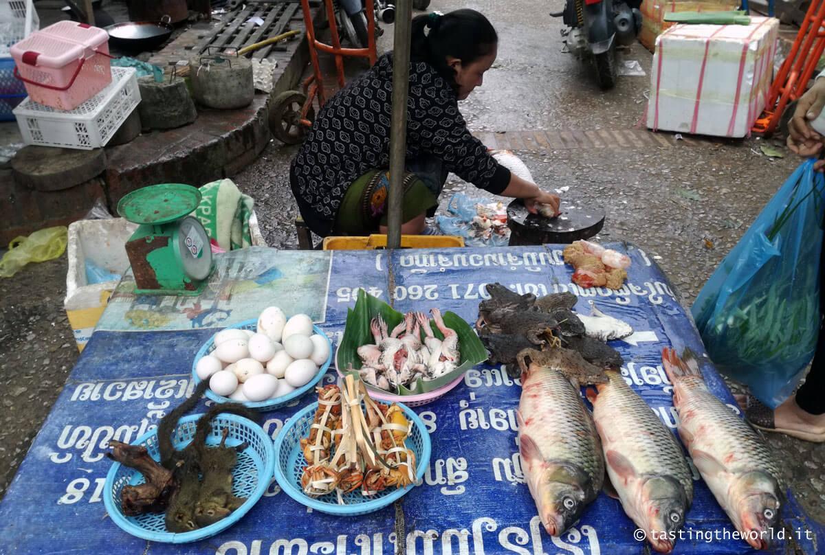 Mercato del mattino, Luang Prabang