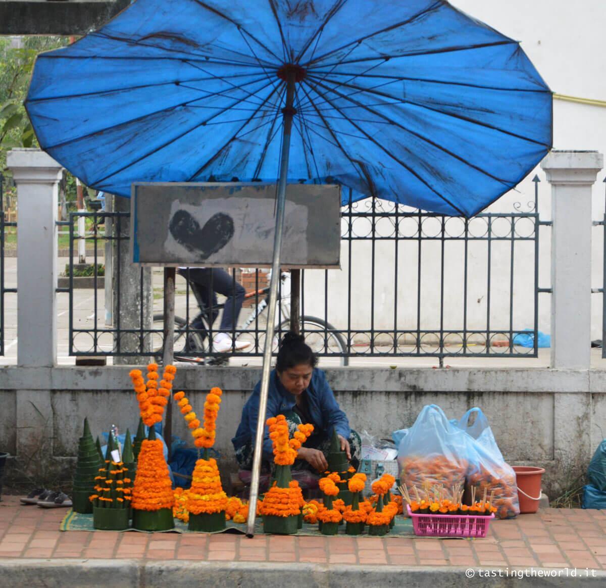 Venditrice ambulante, Luang Prabang