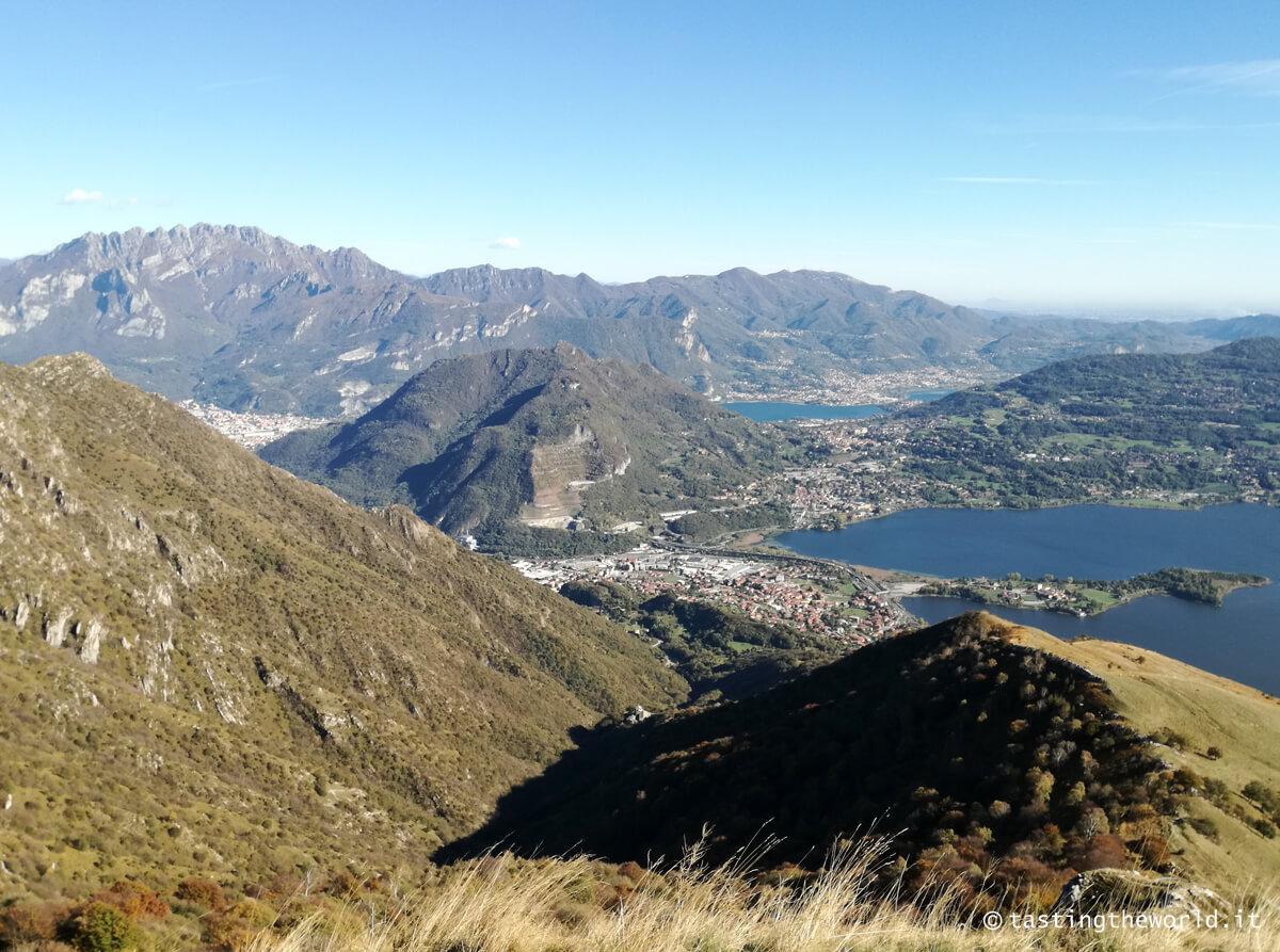 La vista dalla vetta del monte Cornizzolo