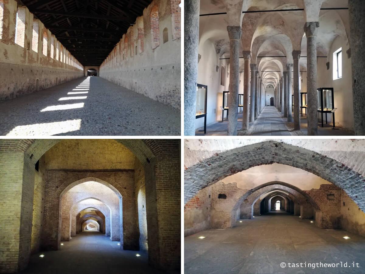 Castello Sforzesco di Vigevano: strada coperta, strada sotterranea, museo archeologico