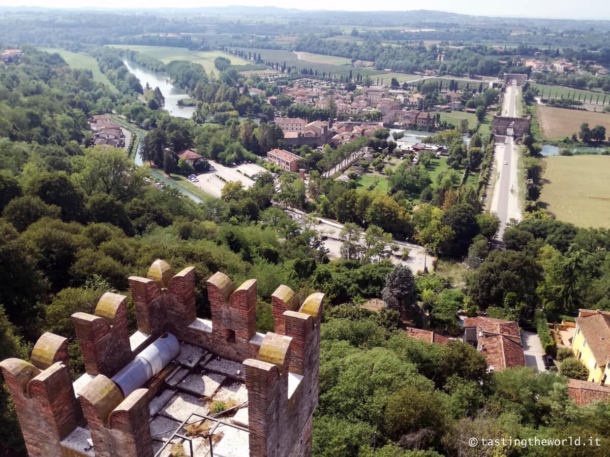 Valeggio sul Mincio: la vista dalla torre del castello Scaligero