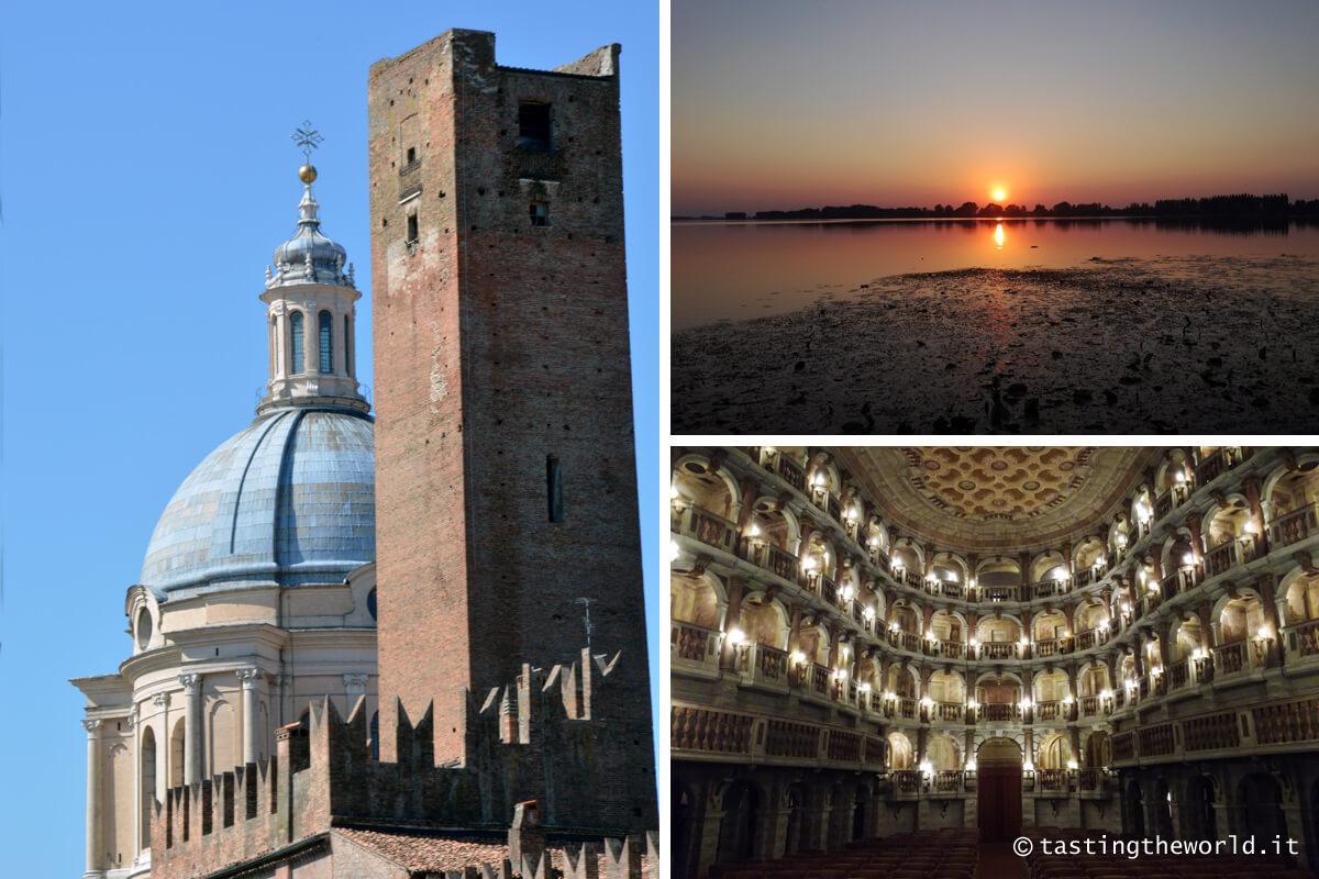 Mantova: tramonto e Teatro Bibiena