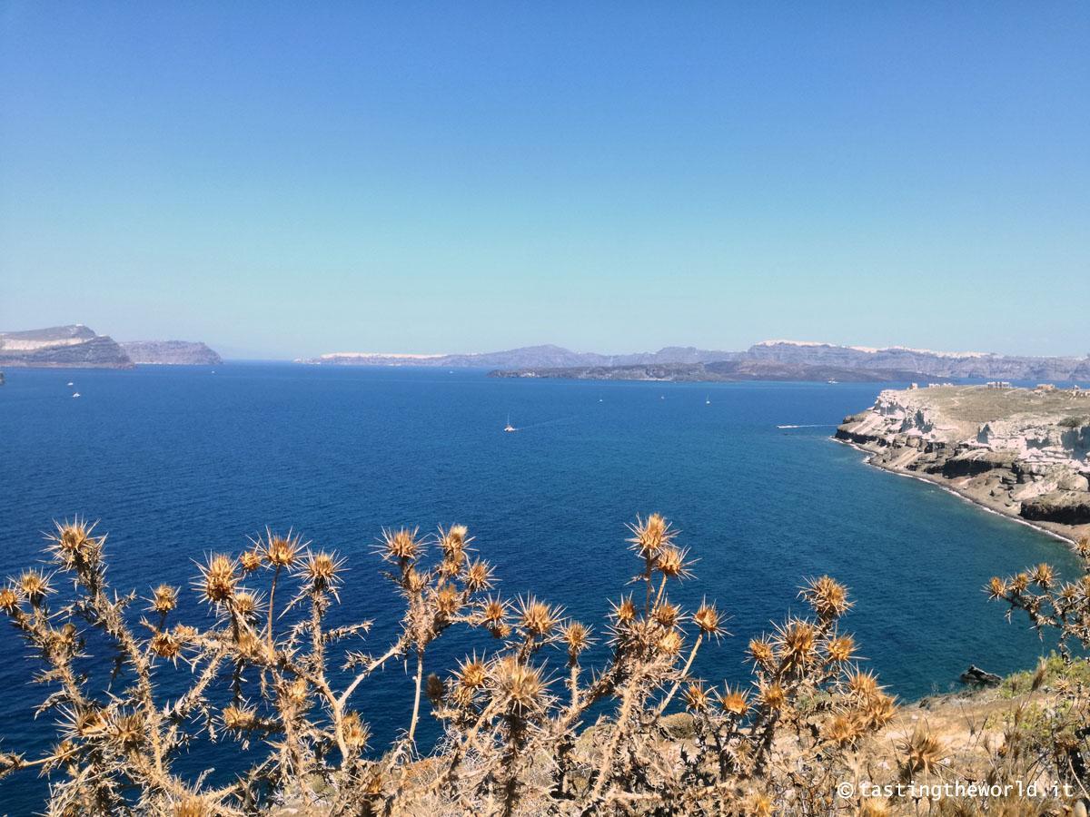 La vista da Capo Aktrotiri a Santorini