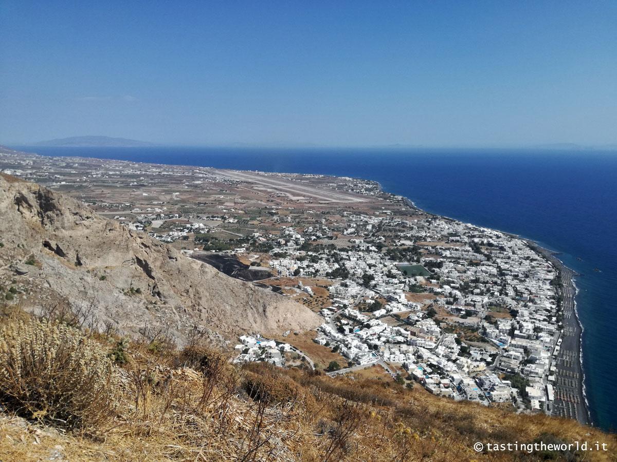Santorini: la vista da Thera antica