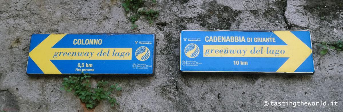 Greenway del lago di Como - segnaletica