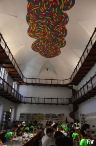 Il murales di Sol Lewitt, biblioteca Panizzi